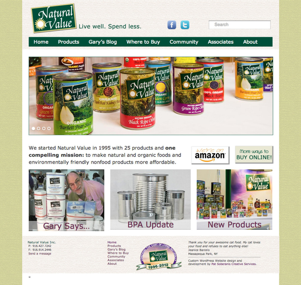 Natural Value Website Full Page